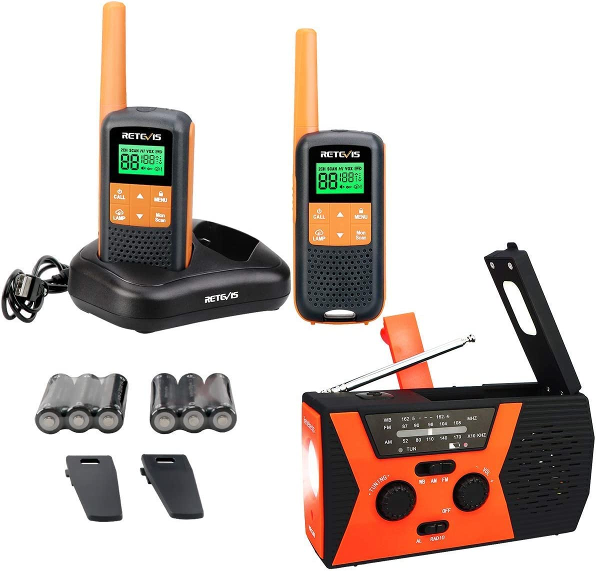 Retekess HR12W Emergency Solar NOAA Hand Crank Super Special SALE held 70% OFF Outlet Radio Bundle with