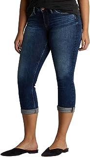 Silver Jeans Co. Women's Suki Curvy Fit Mid Rise Capri