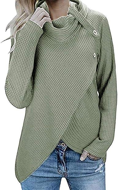 Blusas Suéter Elegante Para Mujer De Mujer Jerseys Cálidos Y ...