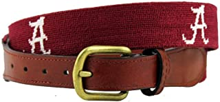 University of Alabama Needlepoint Belt in Crimson and White by Smathers & Branson