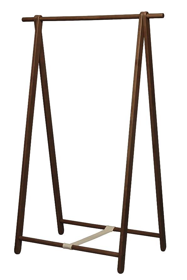 電池贈り物排泄物永井興産 シンプルハンガー(もく)ブラウン 幅99×奥行55.5×高さ147.5cm