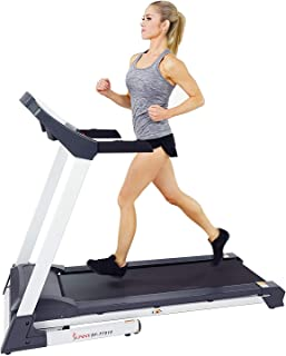 Sunny Health & Fitness SF-T7515 Smart Treadmill with Auto Incline, Speakers, Bluetooth, LCD and Pulse Monitor, Phone Function, 250 LB Max Weight