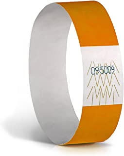 Tyvek Wristband for events, Neon Orange, (Pack of 500)