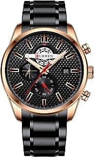 ساعة يد للرجال من الكوارتز 8352 إكسسوارات يمكن ارتداؤها ساعة للرجال مزودة بثلاثة أقراص فرعية دقيقة ثانية وميكروثانية مؤشر ...