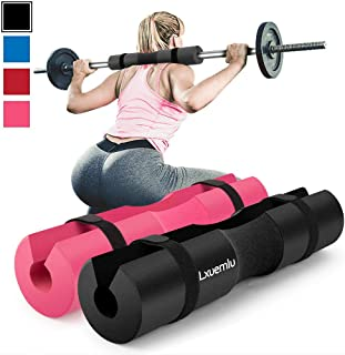【2021 Upgraded】 Squat Pad Barbell Pad for Squats, Lunges, and Hip Thrusts –..