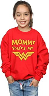 DC Comics Girls Wonder Woman Mummy You're My Hero Sweatshirt