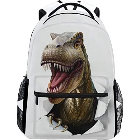 Dinosaur Parasaurolophus Cartoon Animal Classic Backpack School Travel Bag Casual 14 inch Laptop Daypack Bookbag Waterproof Student Computer Bag for Women Girls Kids Boy College Work