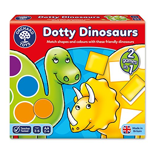 Orchard Toys Dotty Dinosaurs Children's Game, Multi, One Size