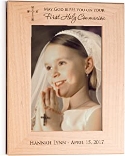 Lifetime Creations Engraved Personalized First Communion Picture Frame 5x7 Frame - First Communion Gift, Personalized First Communion Gift, First Communion Frame