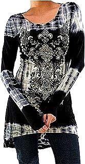 Inlefen Blusas Tallas Grandes Camisetas Góticas Vestidos Vintage Impreso Jersey