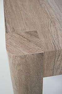 "- Group Design - Mesa consola extensible ""Diva"" de color nogal natural. Mesa de 14 plazas. Producto fabricado en Italia"
