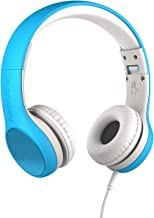 New! LilGadgets Connect+ Style Kids Premium Volume Limited Wired Headphones with SharePort (Children, Toddlers) - Blue