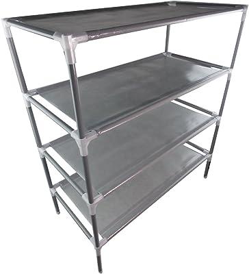 Zapatero JJOnlineStore con estantes apilables (2-10 niveles) para armario, permitiendo ahorrar espacio, madera, 4-Tier