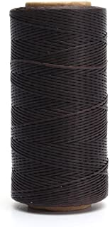 NYKKOLA 284yrd Leather Sewing Waxed Thread 150D 1mm Leather Hand Stitching 125g - Dark Brown
