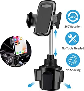 Car Cup Holder Phone Mount,Phone Cup Holder for Car,Upgraded Car Phone Cradle Mount Cell Phone Cup Holder Compatible with Cell Phone iPhone Xs/XS Max/X/8/7 Plus/Galaxy/Samsung Note 9/8