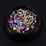 CHSEEO 3D Strass Glitter Cristallo Unghie Nail Art Strass Unghie Perline Pietra Borchie Diamante Gemme...