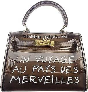 Cckuu Womens Pretty Candy Jelly Transparent Pvc Handbag Shoulder Beach Tote Bag
