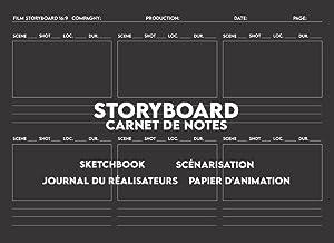 Storyboard Carnet de Notes: Storyboard Sketchbook pour Écriture Scénario, Scénarisation, Journal du Réalisateurs. 6 Cadres...