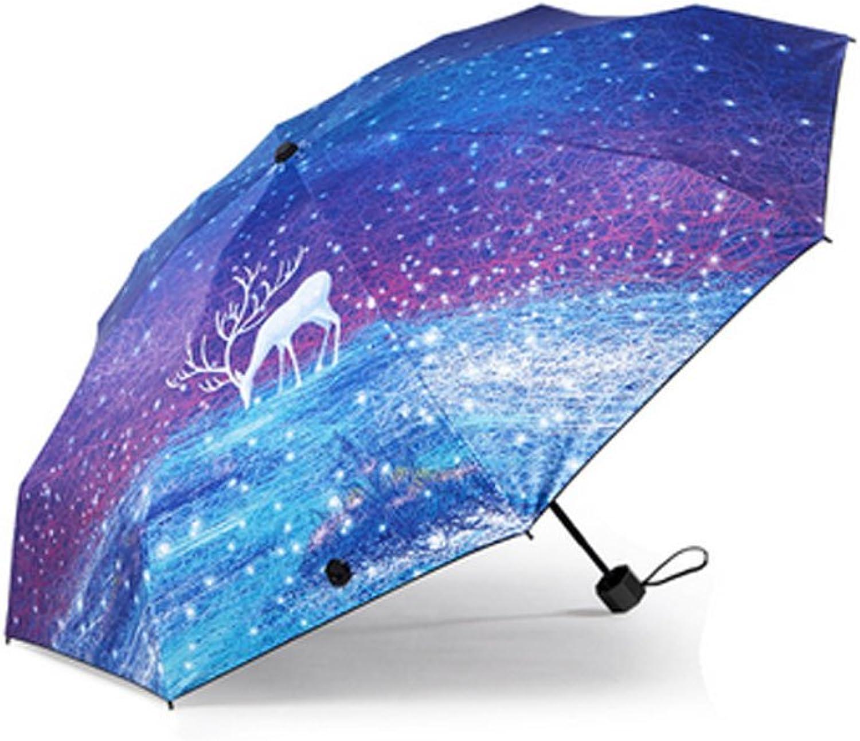 Sun Umbrella Ultra-light UV Umbrellas For Girls And Girls Fold Half-fold Umbrella Umbrellas Students Umbrellas Fashion Umbrella ( PATTERN   D )