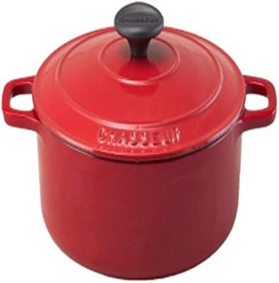 Paderno World Cuisine 7.125 Inch Red Round Dutch Oven