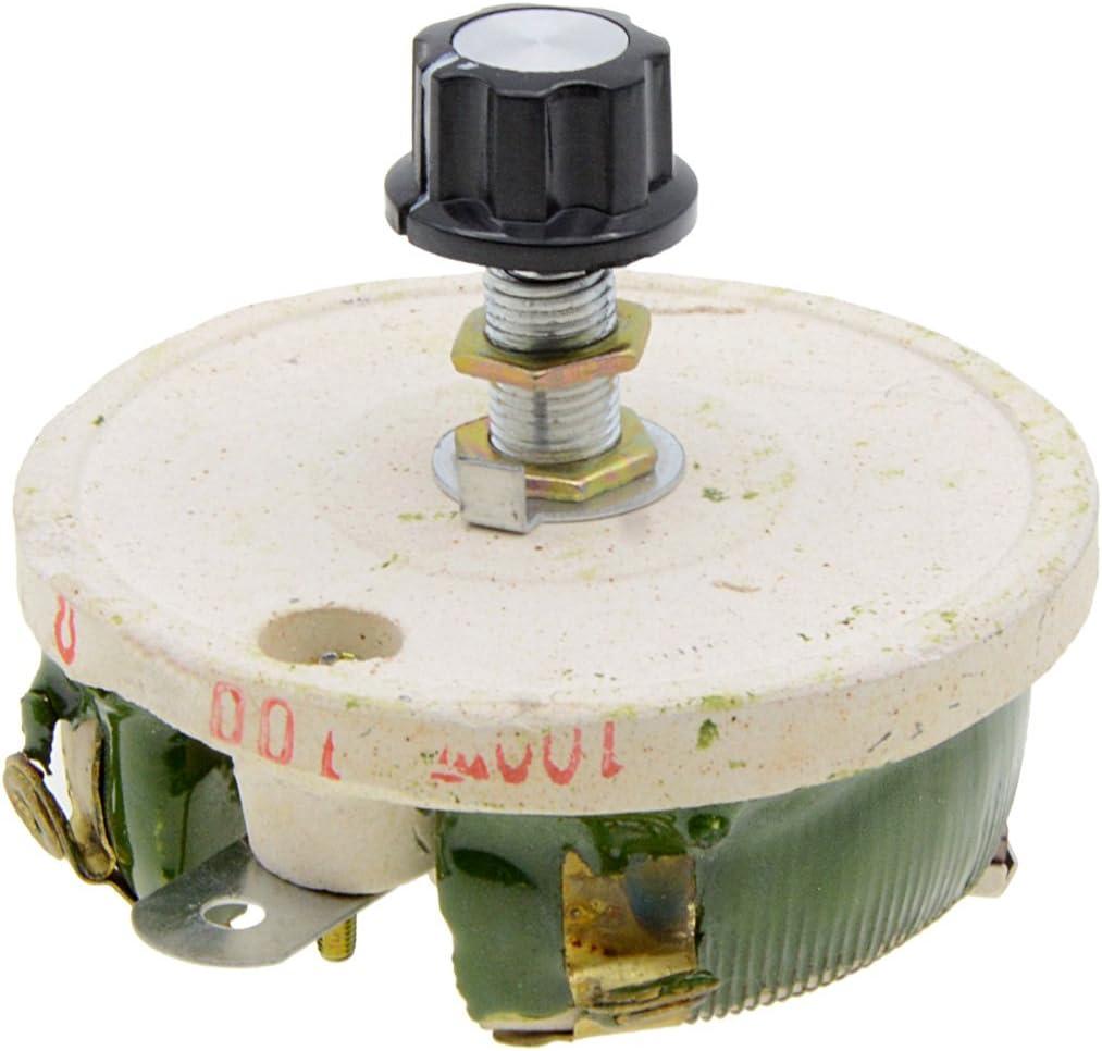 YXQ 100W 100Ohm 5 ☆ popular Rheostat Ceramic Rare Disk Variable Power Sliding Res