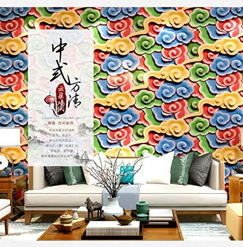 Behang palastpatroonhotel van de religieuze tempel van het plafond van de Chinese kunst beschilderde klassieke goedkope wolk van de drak en de Phoenix-stempels-400 * 280 cm