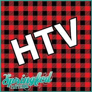 RED BUFFALO PLAID PATTERN HTV Heat Transfer Vinyl 12