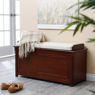 Cedar Chest Mission Bench with Cushion - Cherry