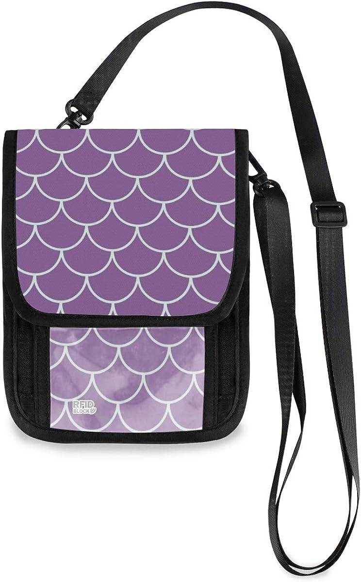 VIKKO Purple Mermaid Scale Omaha Mall Travel RFID Blockin free shipping Neck With Wallet