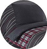 Leonado Vicenti - Bettwäsche 4teilig grau Baumwolle 135x200 oder 155x220 gestreift modern Schlafzimmer Garnitur Set Bezug Decke (Grau, 135 x 200 cm) - 2