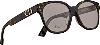 Christian Dior DiorCD1F Eyeglasses 53-16-145 Dark Havana w/Demo Clear Lens 086 CD1F