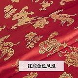 Meterware als Dekostoff- Brokat Seide Chinesisches Kleid