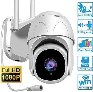 Cámara Domo de 1080p cámara CCTV de Alta definición para Exteriores Cámara infrarroja inalámbrica WiFi Ptz IP66 a Prueba de Agua/Zoom 4X / Alarma de Sirena/Nube de Seguimiento en Forma Humana