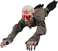 D-Fokes Halloween Crawling Zombie 43 Inches Animated Battery Operated Haunted House Props Yard Scary Decorations