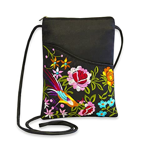 35533dcad07964 Embroidered Floral Travel Crossbody