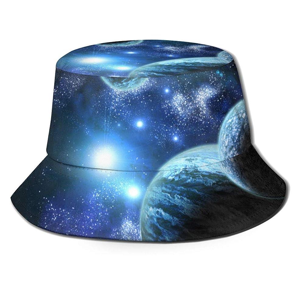 不倫対称のヒープAiwnin 銀河 漁師の帽子 サンハット 日よけ帽 紫外線保護 釣り 登山 農作業 通気性がいい