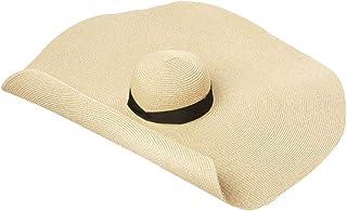BBsmile Sombreros de Paja de Mujer Pamelas para Mujer Playa Moda Grande Anti-Ultravioleta Plegable Sombrero de Sol