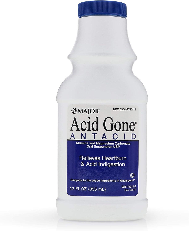 Major Pharmaceuticals Acid Gone Antacid Assor Liquid Import 12 Flavor safety