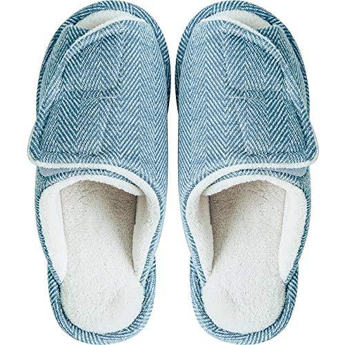 Traagschuim Huisschoenen voor Athritis,Katoenen pantoffels voor zwangere vrouwen in Japanse stijl, antislipschoenen met klittenband en zachte zolen-37-38_Lichtblauw,Plantar Fasciitis sneakers Air
