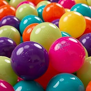 KiddyMoon 100 ∅ 7Cm Bolas Colores De Plástico para