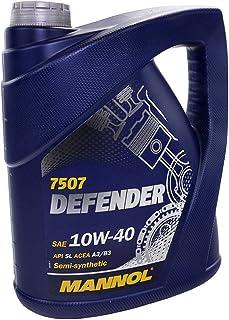 comprar comparacion MANNOL 10256600500 Defender 10W40 SL/CF - Aceite semisintético para Motor, 5 l