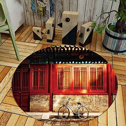 LJN_Home FarbkombinationFahrrad rot Bauanleitung Matte Sofa Couchtisch Schlafzimmer Nachttisch Rutschfester abriebfester Teppich, 160cm