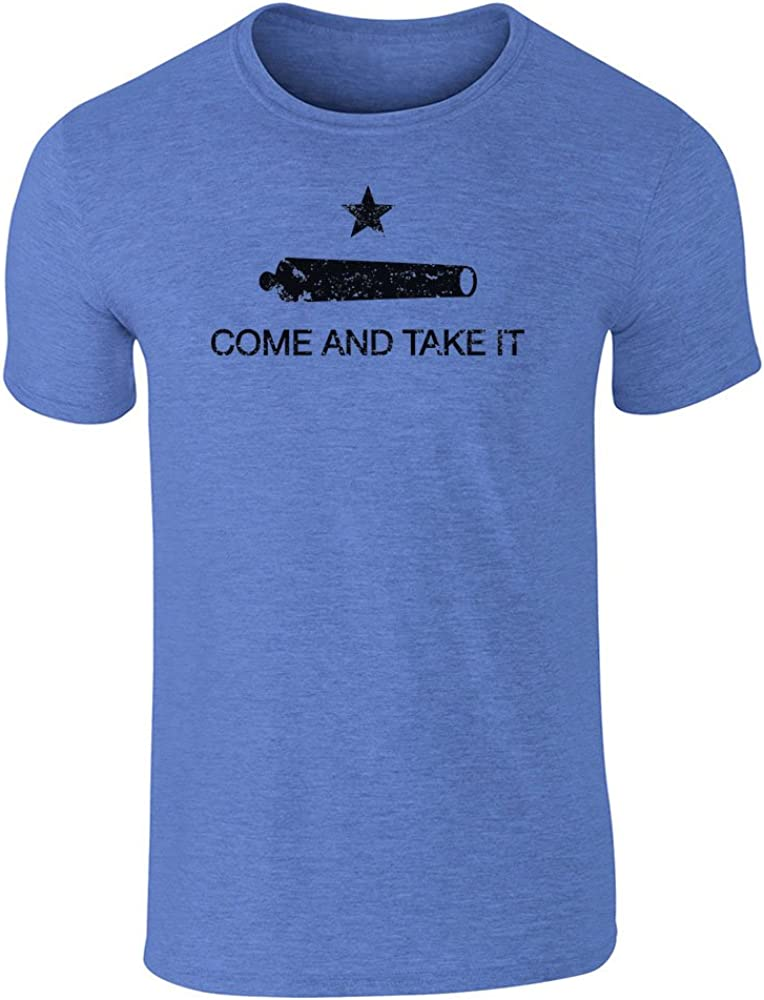 Pop Threads Come and Take It Flag Heather Royal Blue 2XL Graphic Tee T-Shirt for Men