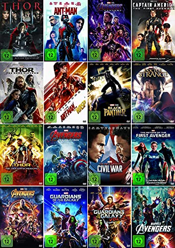 Marvel Studios Mega Bundle - Infinity War, Doctor Strange, Black Panther, Ant-Man, Thor, Captain America u.v.m. [17er DVD-Set]
