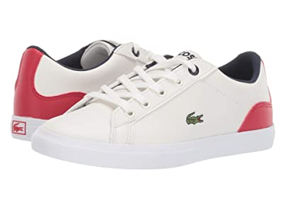 Lacoste Kids Lerond 319 3 (Little Kid) (Off-White/Red) Kid