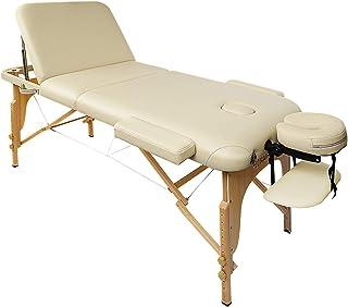 Naipo Table de Massage Lit Pliante 3-Section Professionnel Portable Ergonomique Table Canapé Pieds en Bois pour Thérapie S...