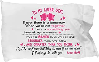 to My Cheer Girl - I'll Always Be with You - Love Mom Pillow Case - Best Cheerleader Spirit Cheer Pillow Case - Mother Daughter Gifts