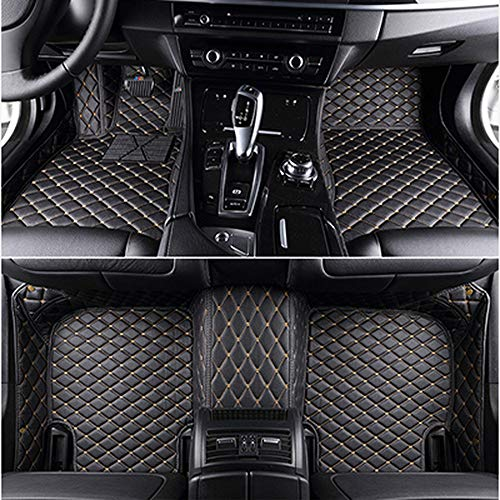 XHULIWQ Auto Leder Fußmatten, Für Maserati GranTurismo Levante Quattroporte, Custom Boot Mat Interior Car Styling
