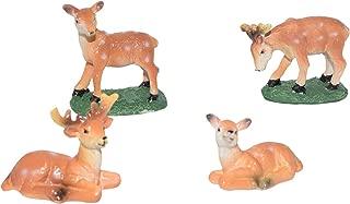 AMOBESTER Fairy Garden Miniature Deer Figurines Outdoor Decoration