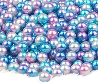 MOMOFULL Undrilled Art Faux Loose Pearls Vase Filler No Holes Makeup Brushes Holder Decorations 6mm Beads for Jewelry Making Crafts, 1000 Piece